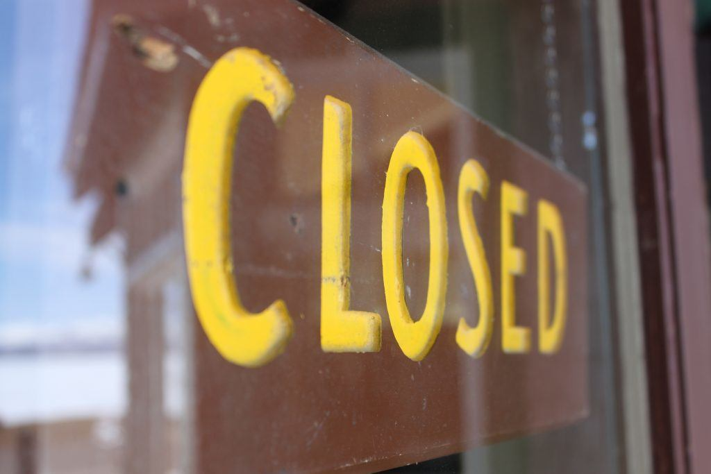 Image of closed sign