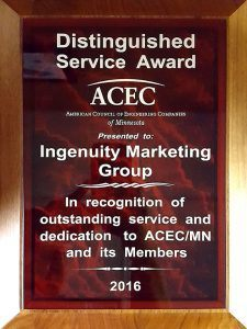 ACEC distinguished service award