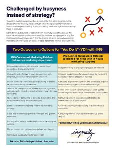 Cover of outsource flyer for marketers