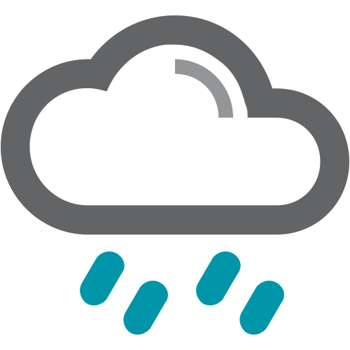 Rain cloud icon.