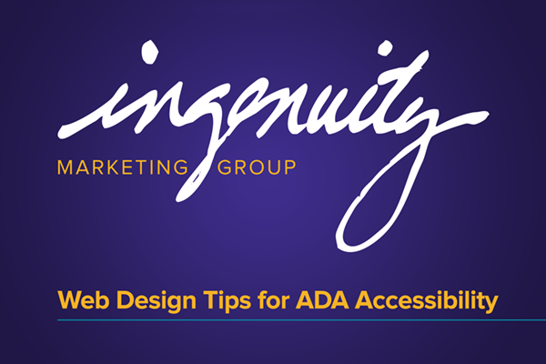Web designs tips for ada accessibility video header
