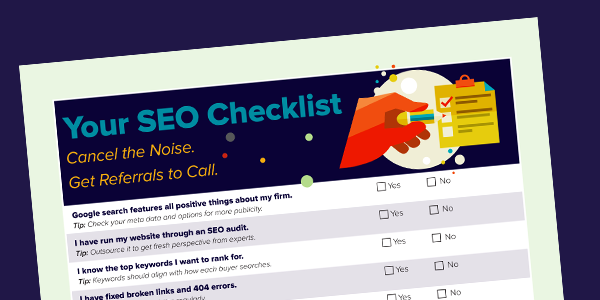 "Top of ""Your SEO Checklist"" document"