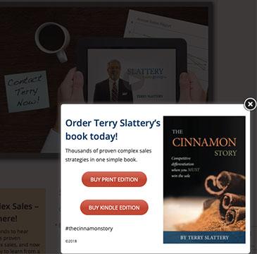 Slattery Sales website pop up