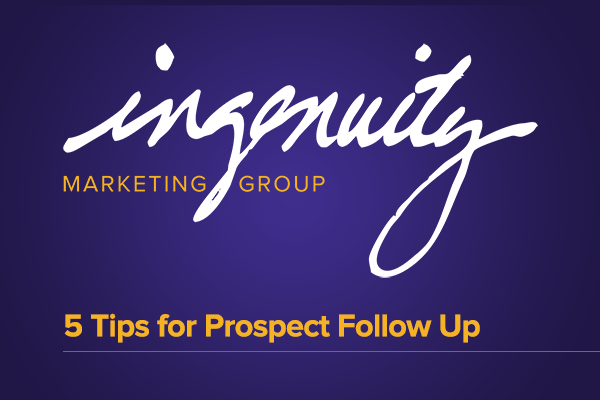 Tips for prospect follow up video title
