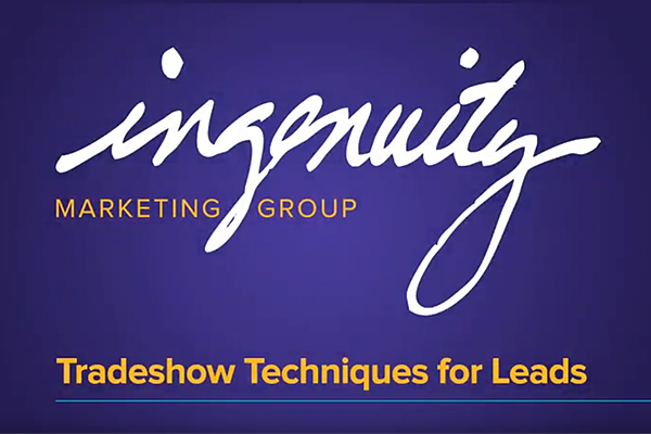Video cover slide for Tradeshow Techniques for Leads