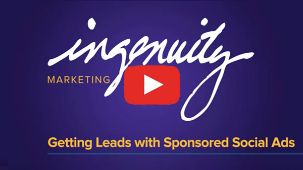 Getting leads with sponsored social ads thumbnail to video