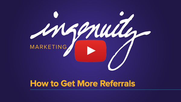 Video title slide for How to Get More Referrals