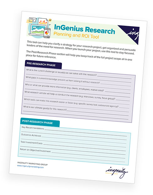 Cover of InGenius Research Planning and ROI Tool