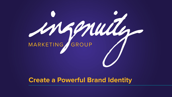 Create a powerful brand identity video header slide