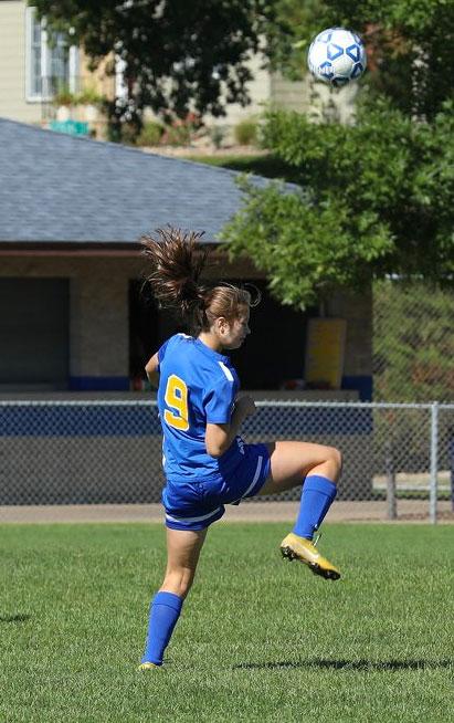Dawn Wagenaar's daughter practicing soccer