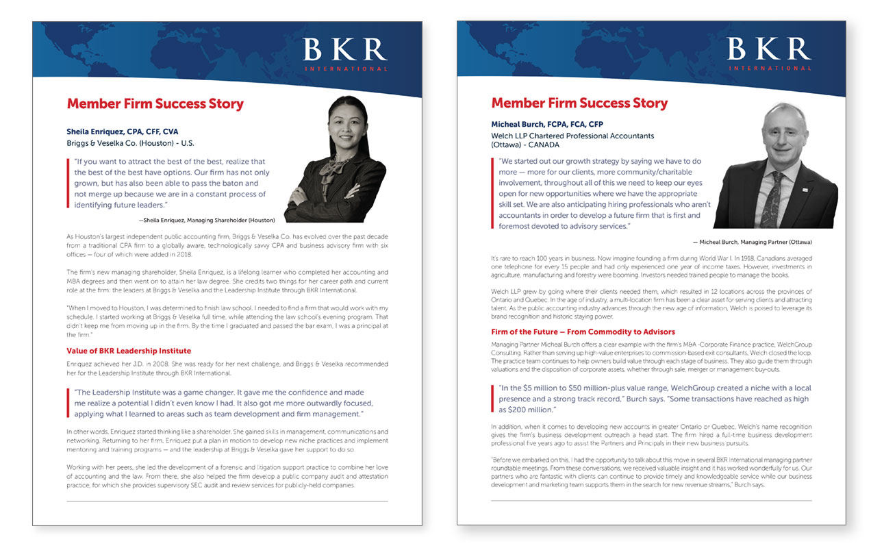Covers of BKR case studies