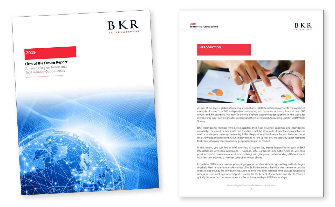 BKR Firm of the Future cover and initial page