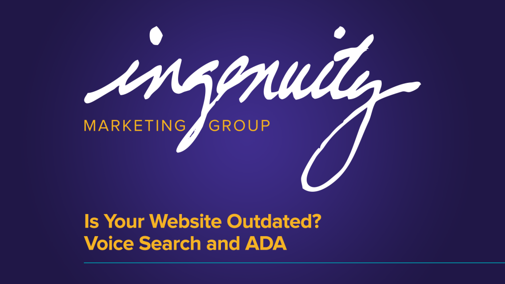 "Video header for ""Is your website outdated? voice search and ada"""