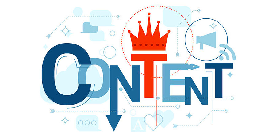 "A graphic representation of the word ""Content"""