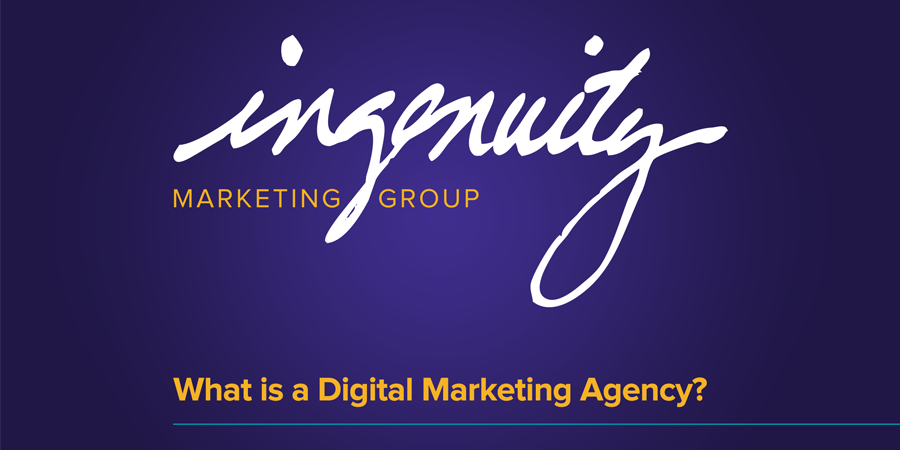 What is a Digital Marketing Agency video title slide.