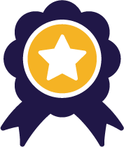 Reward ribbon with star in the center.
