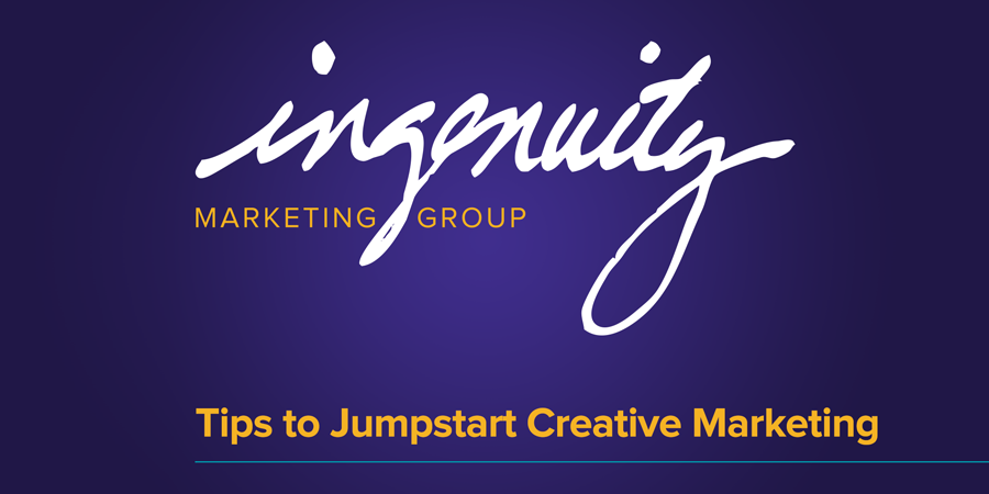 """Video title for """"Tips to Jumpstart Creative Marketing"""""""