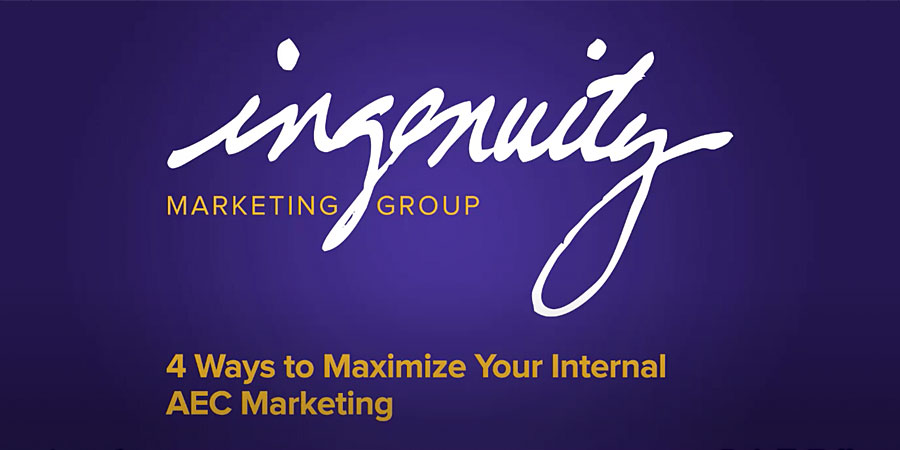"Video header for Christine Nelson's ""4 Ways to Maximize Your International's; AEC Marketing"" video."