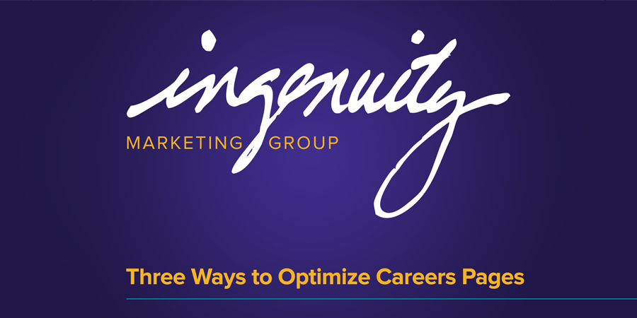 Three Ways to Optimize Your Careers Pages video header.